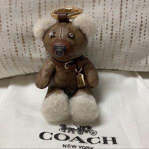 New Coach Signature bear purse charm
